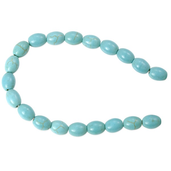 "Dyed Howlite Turquoise 6x8mm Oval Bead (16"" Strand)"