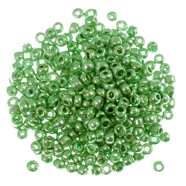 Seed Bead Metallic 6/0 Green (Ounce)