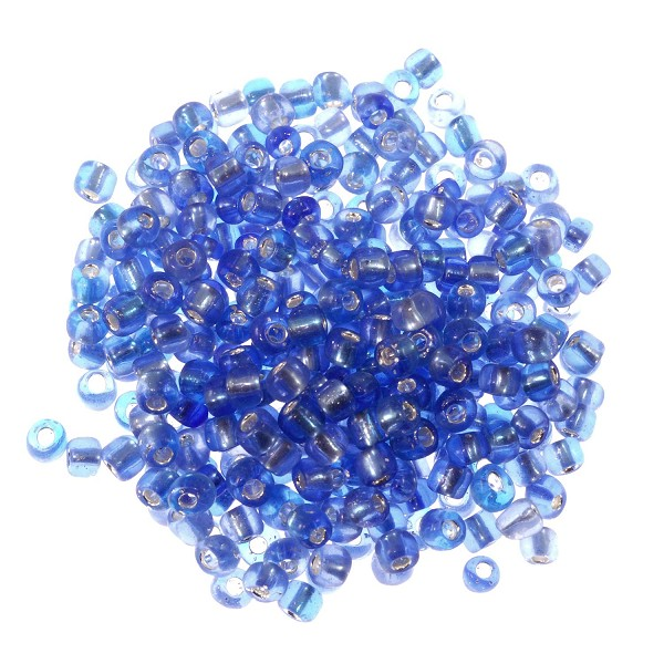 Seed Bead Silver Lined 6/0 Blue (Ounce)