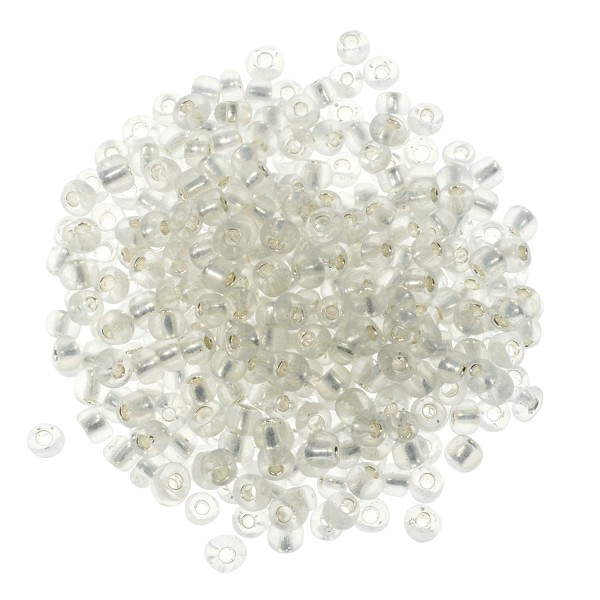 Seed Bead Silver Lined 6/0 Clear Crystal (Ounce)