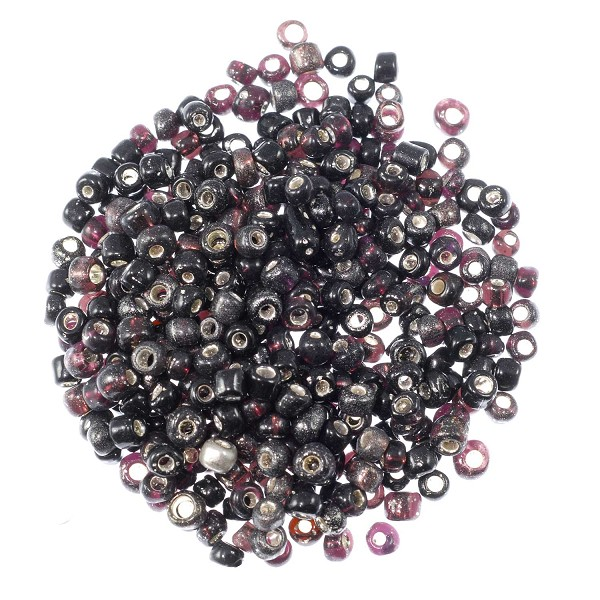 Seed Bead Silver Lined 6/0 Purple (Ounce)