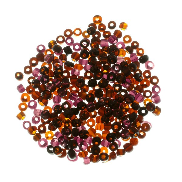 Seed Bead Transparent 6/0 Purple (Ounce)
