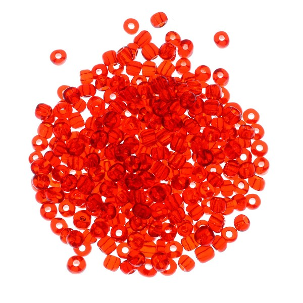 Seed Bead Transparent 6/0 Light Siam (Ounce)