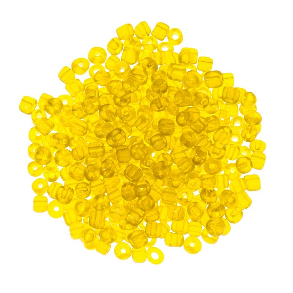 Seed Bead Transparent 6/0 Yellow (Ounce)