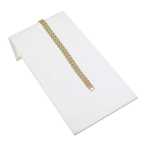 "Jewelry Display Bracelet Ramp White 4-3/4"" Wide"