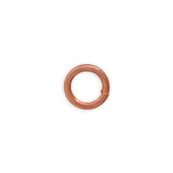 Round Closed Jump Ring 6mm Copper (10-Pcs)