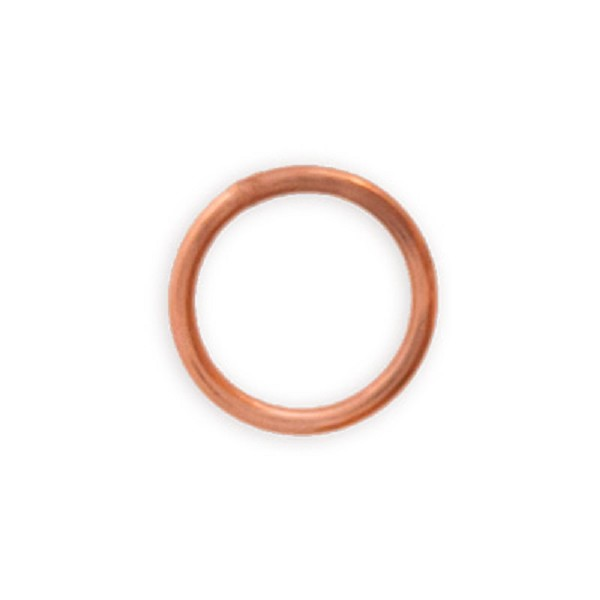 6mm Copper Round Closed Jump Ring (10-Pcs)