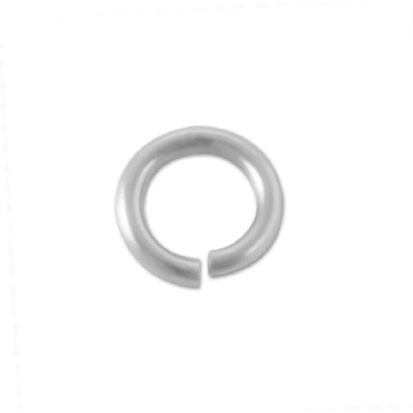 5mm Stainless Steel Round Open Jump Ring (10-Pcs)