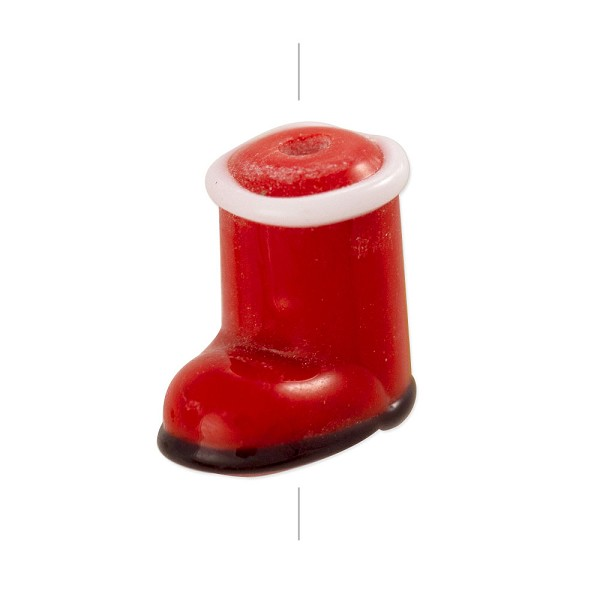 Santa Boot Lampwork Bead 15x15mm (1-Pc)