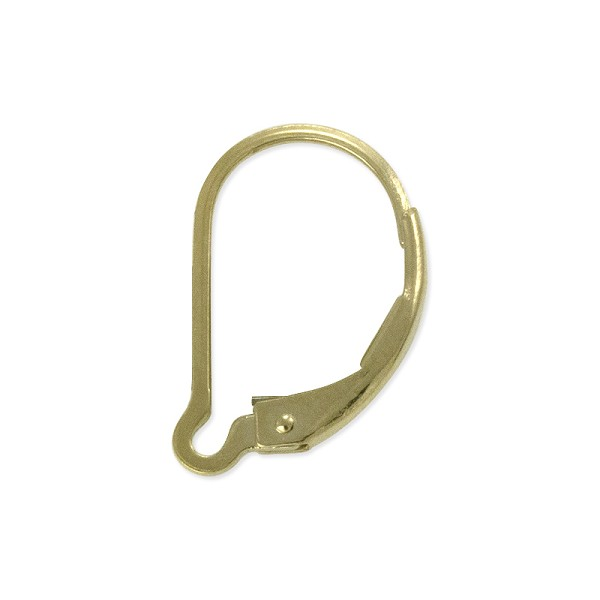 Lever Back Earring 15mm Gold Filled (1-Pc)