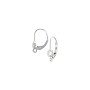 Lever Back Earring with 4mm Cubic Zirconia Stone Sterling Silver (1-Pc)