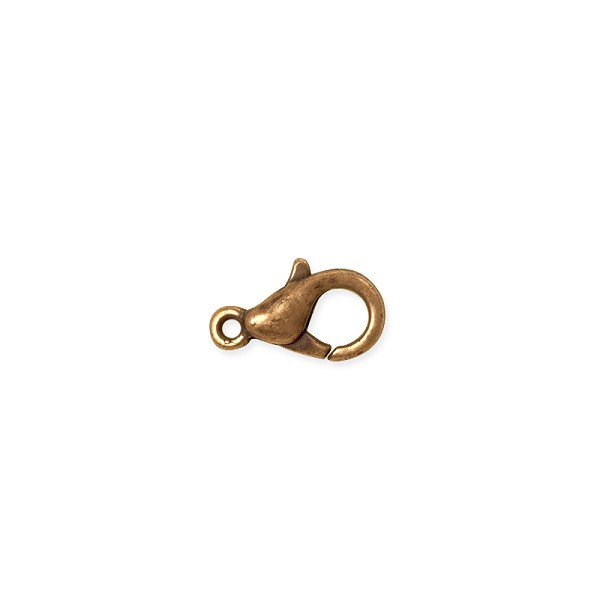 Lobster Claw Clasp - 10x6mm Antique Copper Plated (1-Pc)