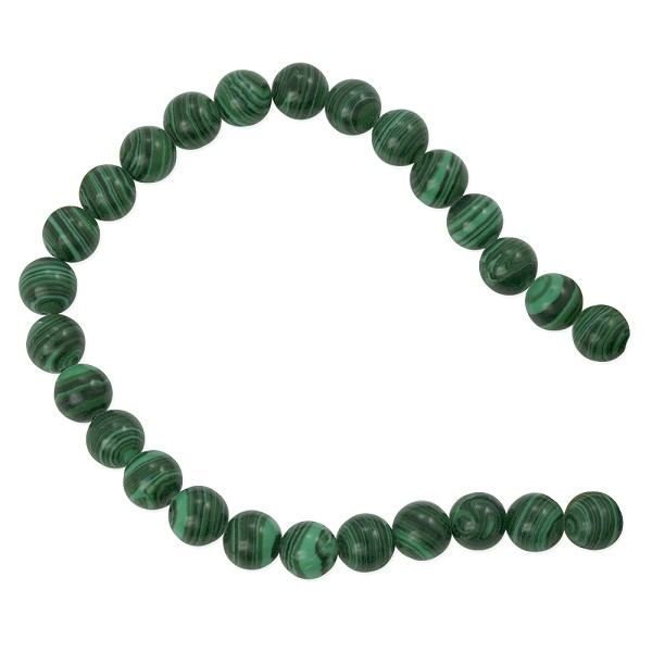 "Synthetic Malachite Round Beads 8mm (16"" Strand)"