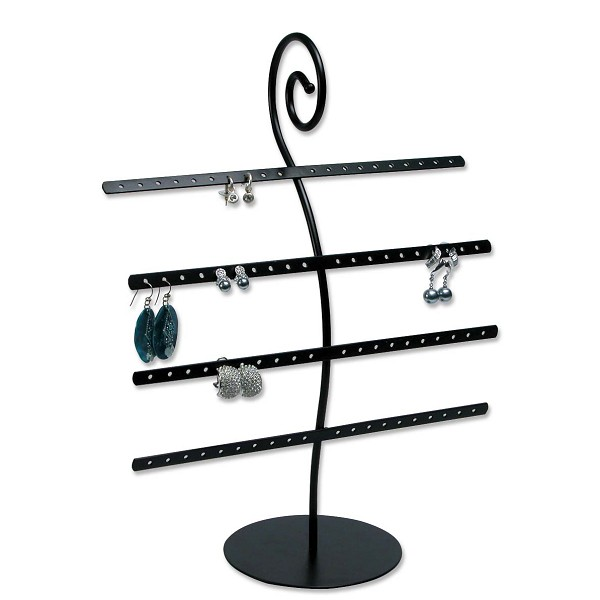 Metal Earring Rack Jewelry Display (Holds 40 pairs)