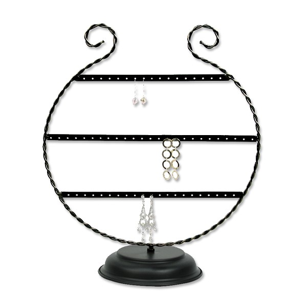Metal Earring Jewelry Display (Holds 30 Pairs)