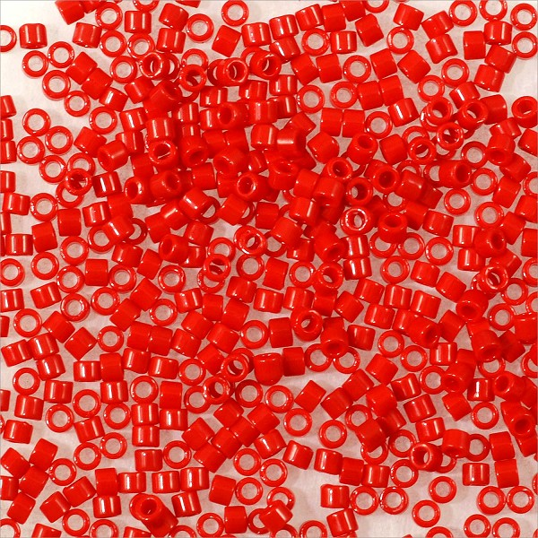 Miyuki Delica Seed Bead 11/0 Opaque Red (3 Gram Tube)