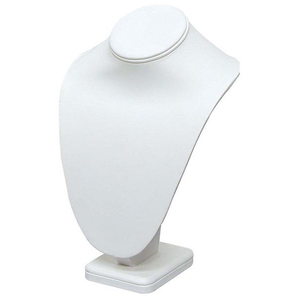 "Necklace Bust Jewelry Display 10"" Tall White"