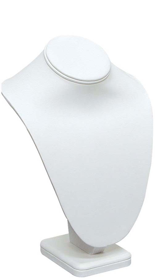 "Necklace Bust Jewelry Display 6-1/4"" Tall White"