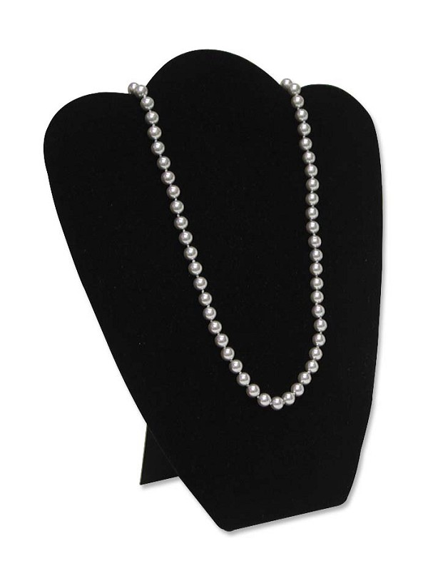 Necklace Display Medium Black Velvet
