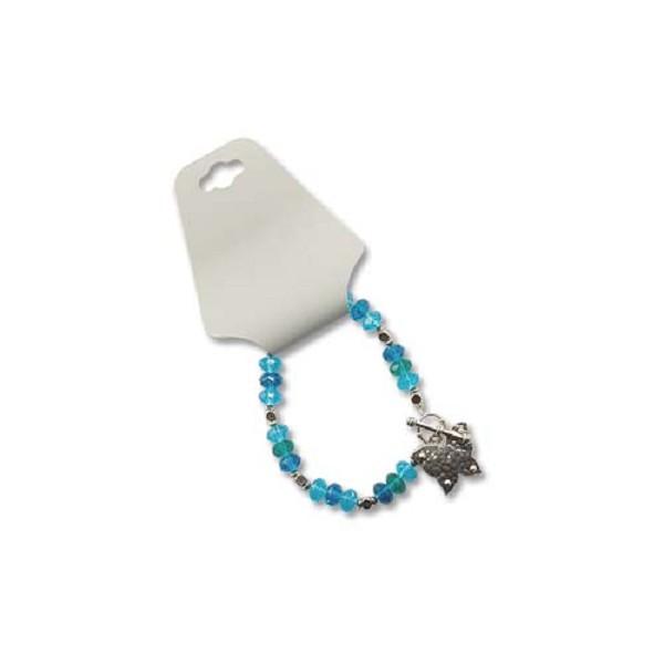 Fold-Over Jewelry Card Grey (25-Pcs)