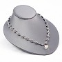 "Low Profile Necklace Display Bust Steel Gray Leatherette 6-1/2"" x 8"""