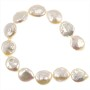 "Freshwater Coin Pearls Baroque Creme 10-11mm (16"" Strand)"