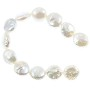 "Freshwater Coin Pearls Baroque White 10-11mm (16"" Strand)"