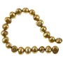 "Freshwater Potato Pearl Nugget Gold 10-11mm (16"" Strand)"