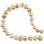 "Freshwater Potato Pearls Nuggets Beige Mix 7-8mm (16"" Strand)"