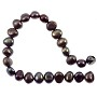 "Freshwater Potato Pearl Nugget Peacock Black 7-8mm (16"" Strand)"