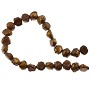 "Freshwater Potato Pearl Bumpy Nuggets Rustic Bronze 7-8mm (16"" Strand)"