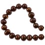 "Freshwater Potato Pearl Chocolate 8-9mm (16"" Strand)"