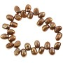 "Freshwater Potato Pearl Baroque Nuggets Copper Mix 7-8mm (16"" Strand)"