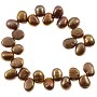 "Freshwater Potato Pearl Baroque Nuggets Top Drilled Copper Mix 8-9mm (16"" Strand)"