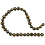 "Freshwater Potato Pearl Dark Brown Peacock 5.5-6.5mm (16"" Strand)"