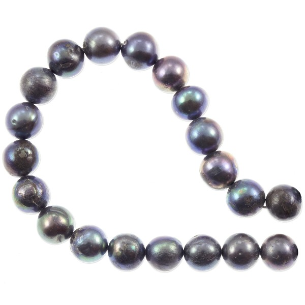 "Freshwater Potato Pearl Peacock Dark Grey 9-10mm (16"" Strand)"