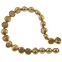 "Freshwater Potato Pearl Nugget Gold 9-10mm (16"" Strand)"