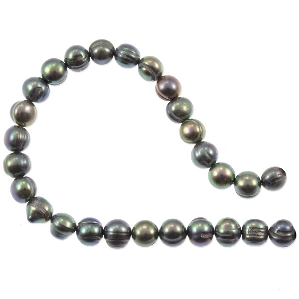 "Freshwater Potato Pearls Peacock Grey 6-7mm (16"" Strand)"