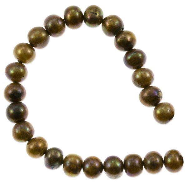 "Freshwater Potato Pearls Peacock Brown 8-9mm (16"" Strand)"