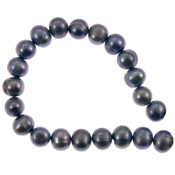 "Freshwater Potato Pearl Peacock Grey 8-9mm (16"" Strand)"