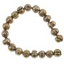"Freshwater Potato Pearl Irregular Pewter 7-8mm (16"" Strand)"