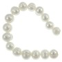 Freshwater Potato Pearls White 9-10mm (15 Inch Strand)
