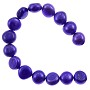 "Freshwater Potato Pearl Nugget Brilliant Violet 10-11mm (16"" Strand)"