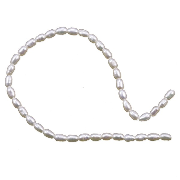 "Freshwater Rice Pearls White 2.5-3mm (16"" Strand)"