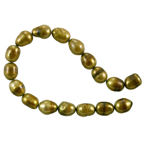 "Freshwater Rice Pearl Antique Gold 8-9mm (16"" Strand)"