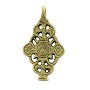 "Ethiopian Cross Brass Pendant 2"" x 1-1/4"" (1-Pc)"