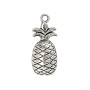 Pineapple Pendant 34x16mm Pewter Antique Silver Plated (1-Pc)