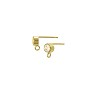 Earring Post with 4mm Cubic Zirconia Gold Filled (1-Pc)