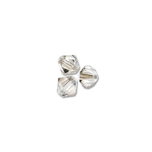 Swarovski Crystal Bicone Beads 5328 5mm Crystal Silver Shade (10-Pcs)