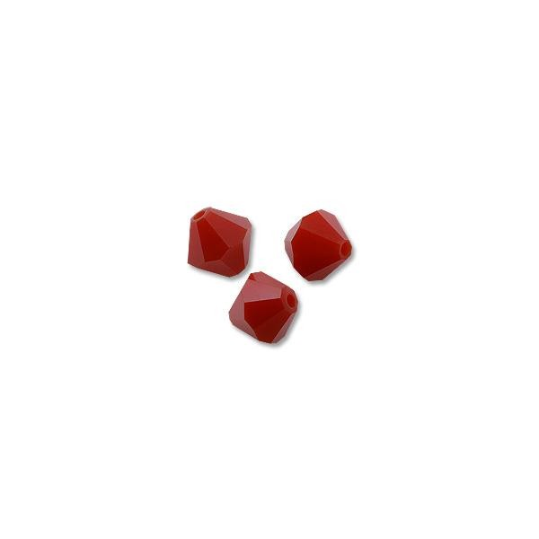 Swarovski Crystal Bicone Beads 5301 4mm Dark Red Coral (10-Pcs)